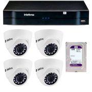 Kit 04 Câmeras IP HD 720p VIP 1020 D + NVR 1304 e HD 1TB