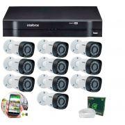 Kit 10 Câmeras de Segurança HD 720p Intelbras VHD 3120 B G5 + DVR Intelbras Multi HD + Acessórios