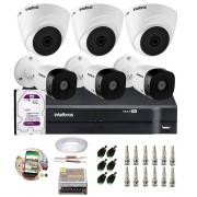 Kit 6 Câmeras Segurança Mista 3 Domes + 3 Bullet HD 720p VHD 1010 G6 + DVR de 8 Canais e HD 1TB
