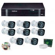 Kit 8 Câmeras de Segurança HD 720p Intelbras VHD 1010B G5 + DVR Intelbras Multi HD + Acessórios