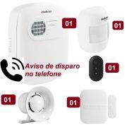 Kit de Alarme Intelbras ANM 3004 ST com 02 Sensores e Discadora por Telefone fixo
