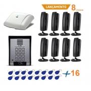 Kit Porteiro Eletrônico Coletivo 8 Ponto Controle De Acesso HDL