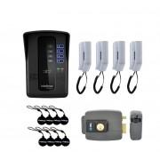 Kit Porteiro Eletrônico Coletivo de 4 Pontos e Fechadura HDL