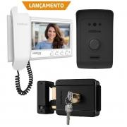 Kit Video Porteiro Residencial IVR 1070 HS e Fechadura FX 500