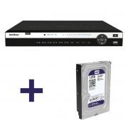 NVR, HVR Stand Alone Intelbras NVD 3116 16 Canais, para Camera IP, OnVif COm HD de 1-TB