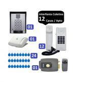Porteiro Coletivo 12 Ponto C/ Fechadura Controle De Acesso Hdl e 24 TAGS