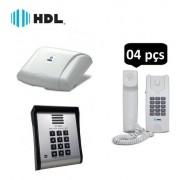 Porteiro Eletrônico Coletivo 4 Pontos E Controle Senha Hdl