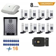 Porteiro Eletrônico Coletivo 8 Ponto Controle De Acesso HDL