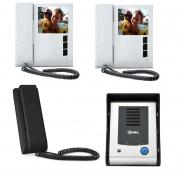 Video Porteiro Eletrônico Sense Classic S Com Um Monitore e extensão de Áudio