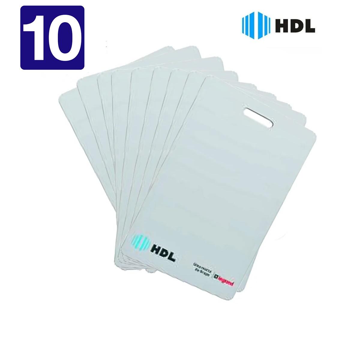 Cartão Rfid 125khz Com 10 Unidades HDL