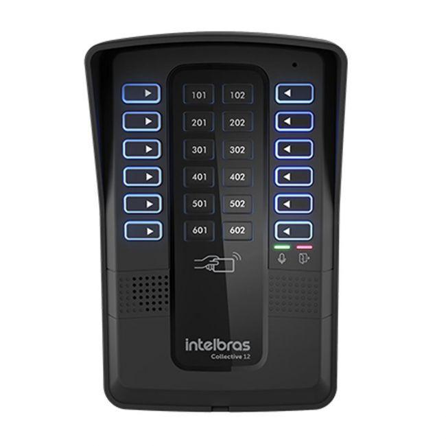 Central de Interfonia 12 Pontos Com Controlador de Acesso RFID Collective 12 Intelbras