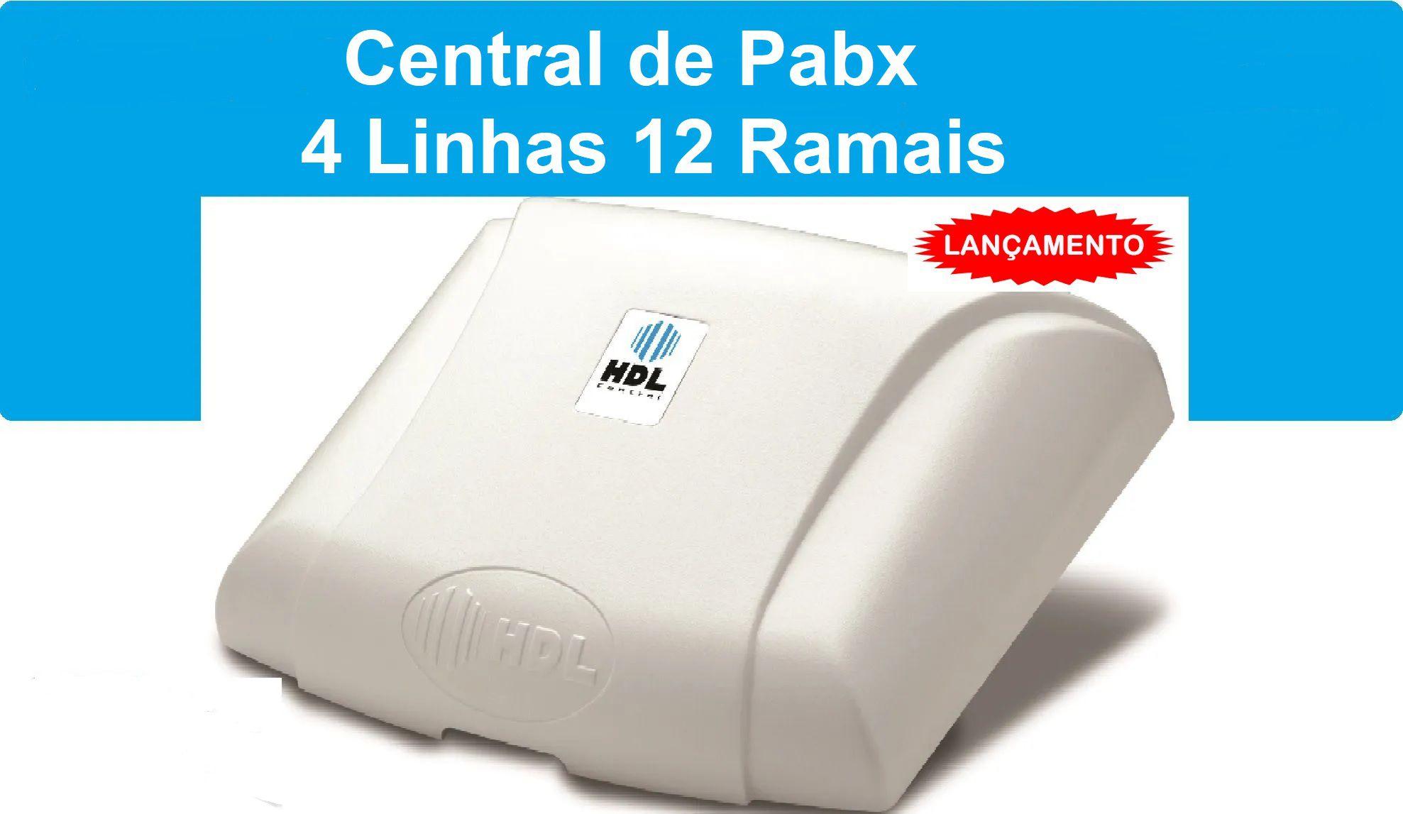 Central de Pabx Centrix  c/ 4 Linhas e 12 Ramais HDL