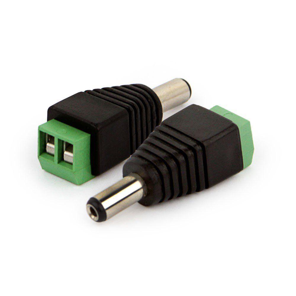 20 Conector Plug P4 Macho com Borne