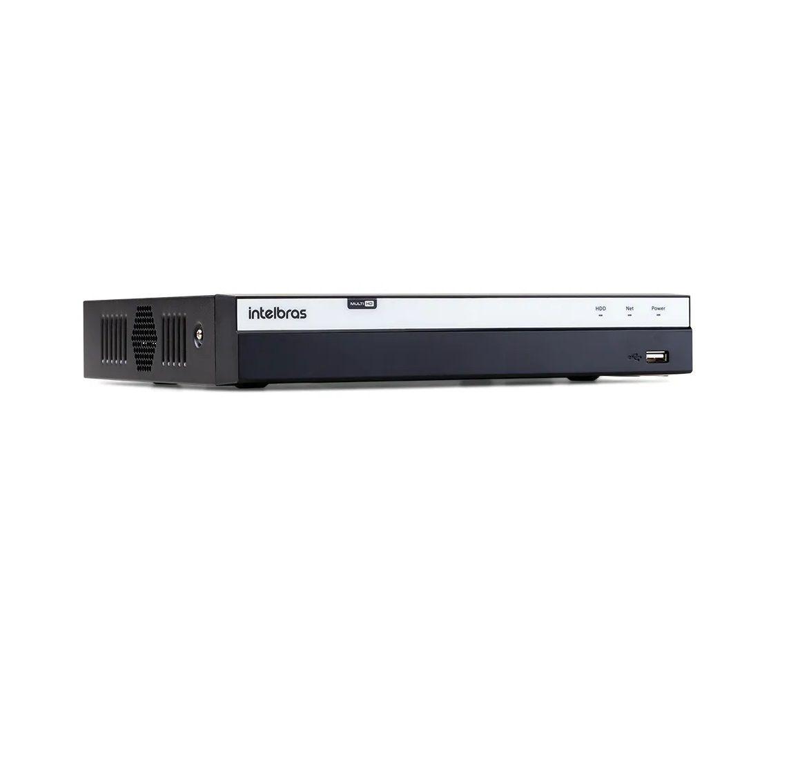 DVR Stand Alone Intelbras MHDX 3108 08 Canais Full HD 1080p Multi HD + 04 Canais IP 5 Mp + HD WD Purple 2TB