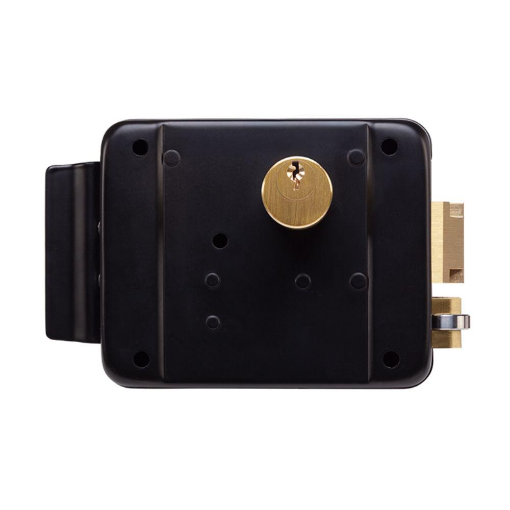 Fechadura Elétrica de Sobrepor FX 2000 Preta - Trinco Reversível com Abertura Direita ou Esquerda