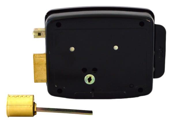 Fechadura HDL Elétrica C90 Cilindro Ajustável Abertura p/ Dentro e Controle de Acesso Preta