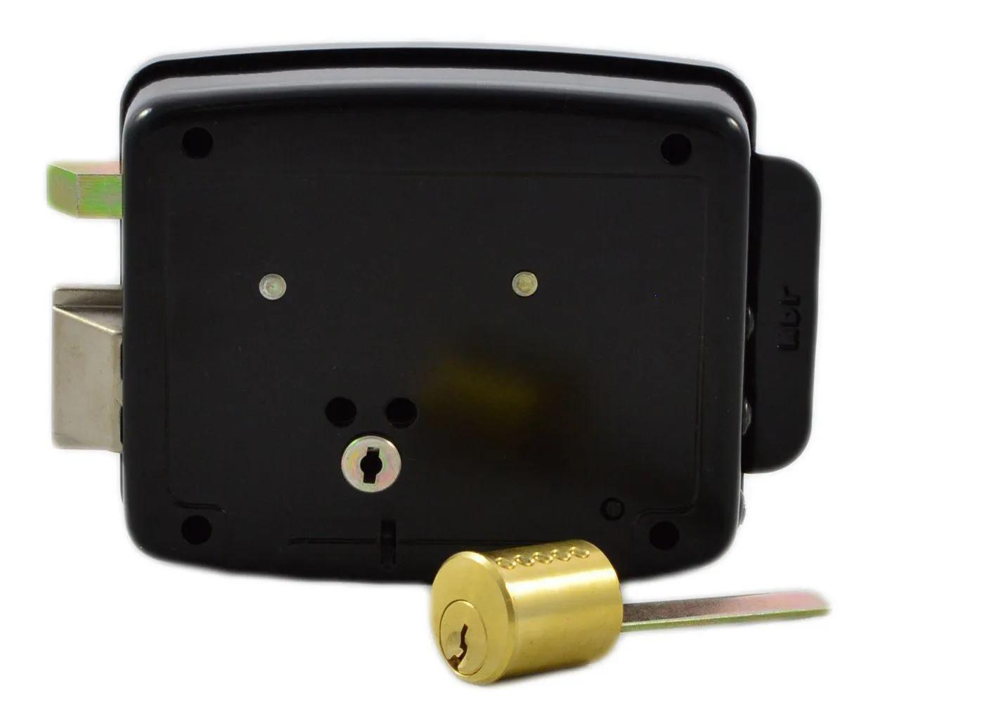 Fechadura HDL Elétrica C90 Cilindro Ajustável Abertura p/ Fora e Controle de Acesso Preta