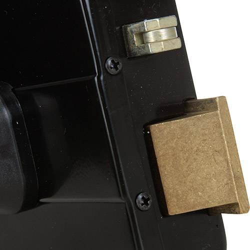 Fechadura HDL Elétrica C90 Cilindro Ajustável Abertura p/ Fora e Controle de Acesso Cinza