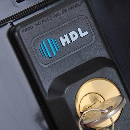 Fechadura HDL Elétrica C90 Dupla Fixa - Preta