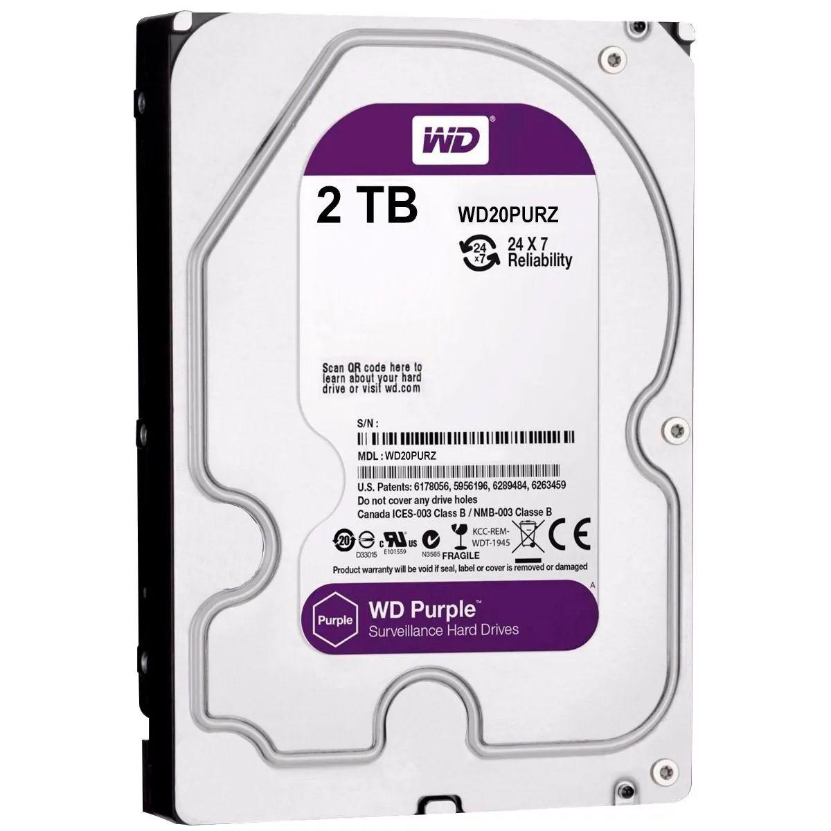 HD Interno Wd Purple 2-TB Sata 5400rpm 64mb Intelbras