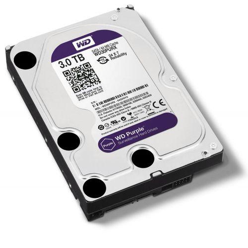 HD Interno Wd Purple 3-TB Sata 5400rpm 64mb Intelbras