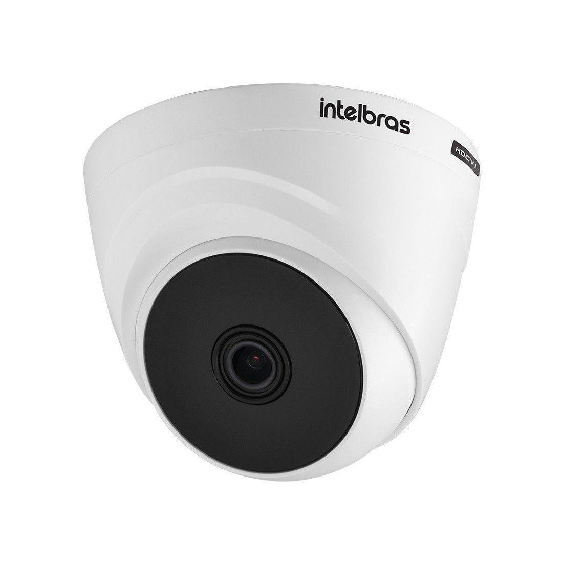 Kit 3 Câmeras de Segurança HD 720p Intelbras VHD 1010 D G6 DVR Multi HD de 4 Canais e Acessórios