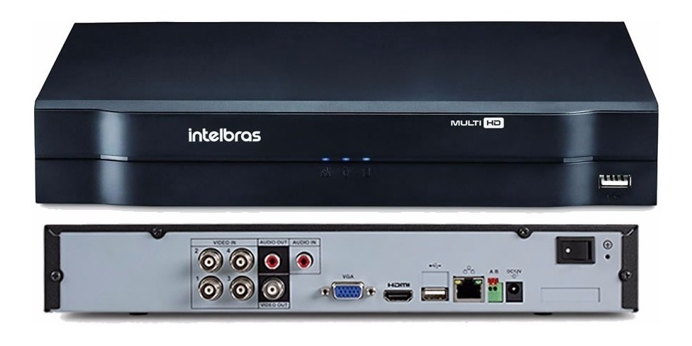 Kit 3 Câmeras de Segurança HD 720p Intelbras VHD 1010 D G6  DVR Multi HD 4 Canais C/ HD-1TB e Acessórios