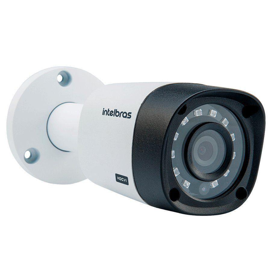 Kit 3 Câmeras de Segurança HD 720p Intelbras VHD 3130 B G5 + DVR Multi HD + HD-1TB + Acessórios