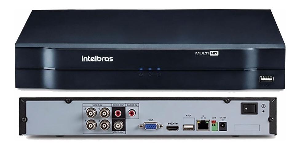 Kit 4 Câmeras de Segurança HD 720p Intelbras VHD 1010 B G6 DVR 4 Canais Multi HD Com HD 1TB e Acessórios