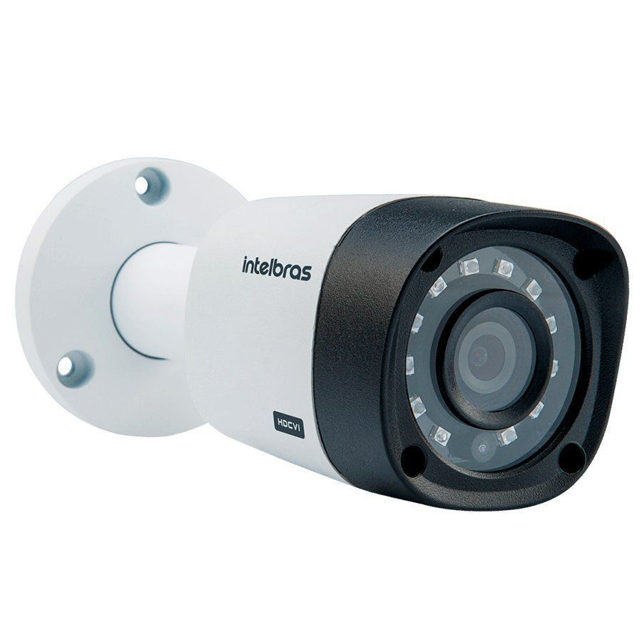 Kit 4 Câmeras de Segurança HD 720p Intelbras VHD 3130 B G5 + DVR Multi HD + HD 1TB + Acessórios