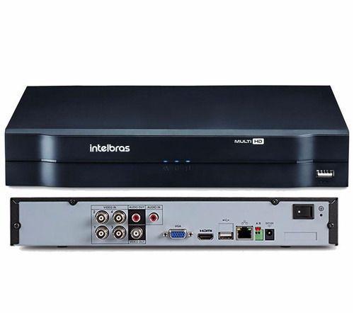 Kit 4 Câmeras de Segurança HD 720p Intelbras VHD 3130B G6 + DVR 4 Canais Multi HD Com HD 1TB e Acessórios