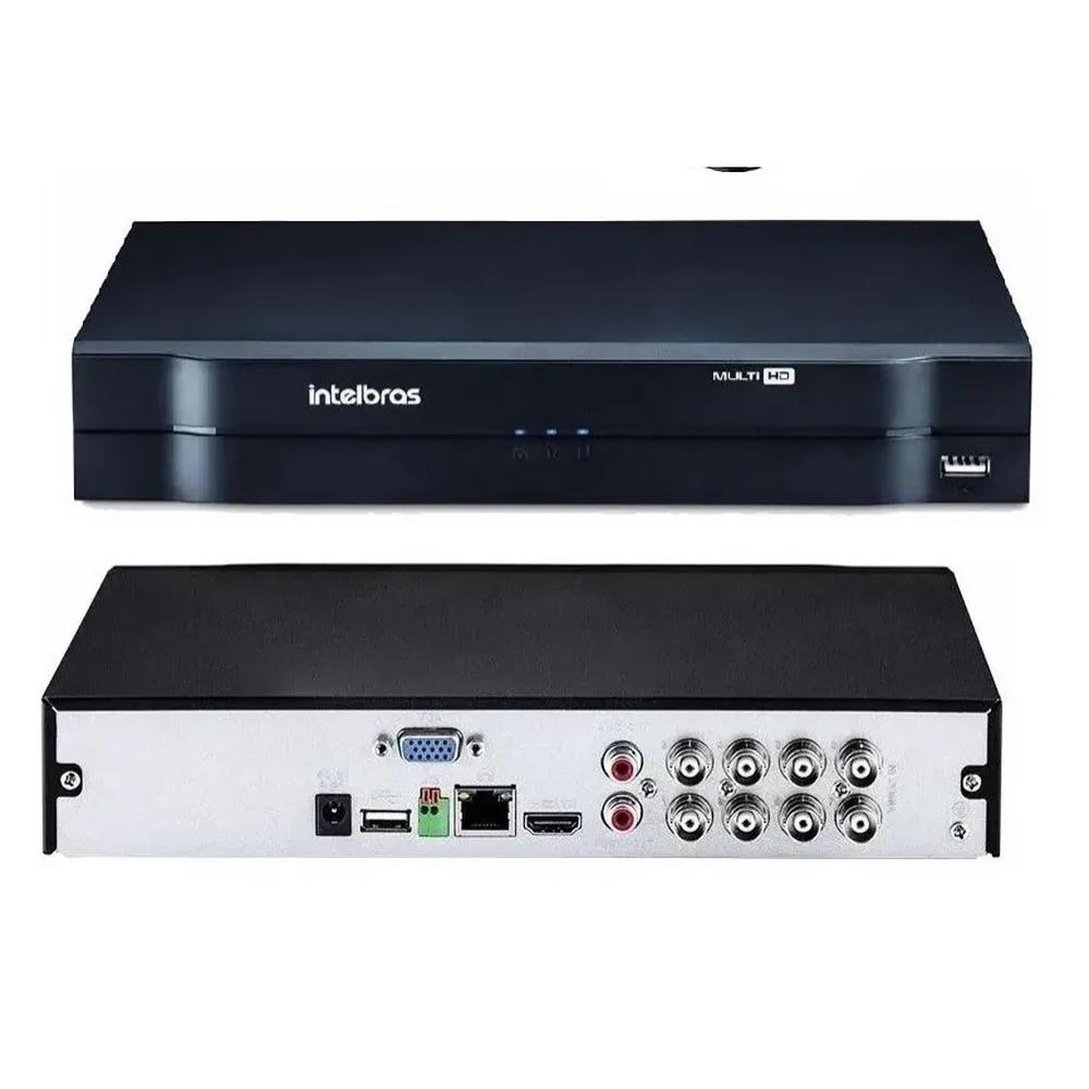 Kit 8 Câmeras de Segurança HD 720p Intelbras VHD 3130 B G6 + DVR Multi HD + HD 1TB + Acessórios