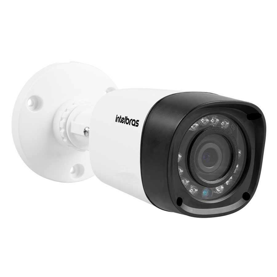 Kit 8 Câmeras de Segurança Intelbras Full HD 1080p VHD 1220B IR + DVR Full HD + HD WD Purple 2TB + Acessórios