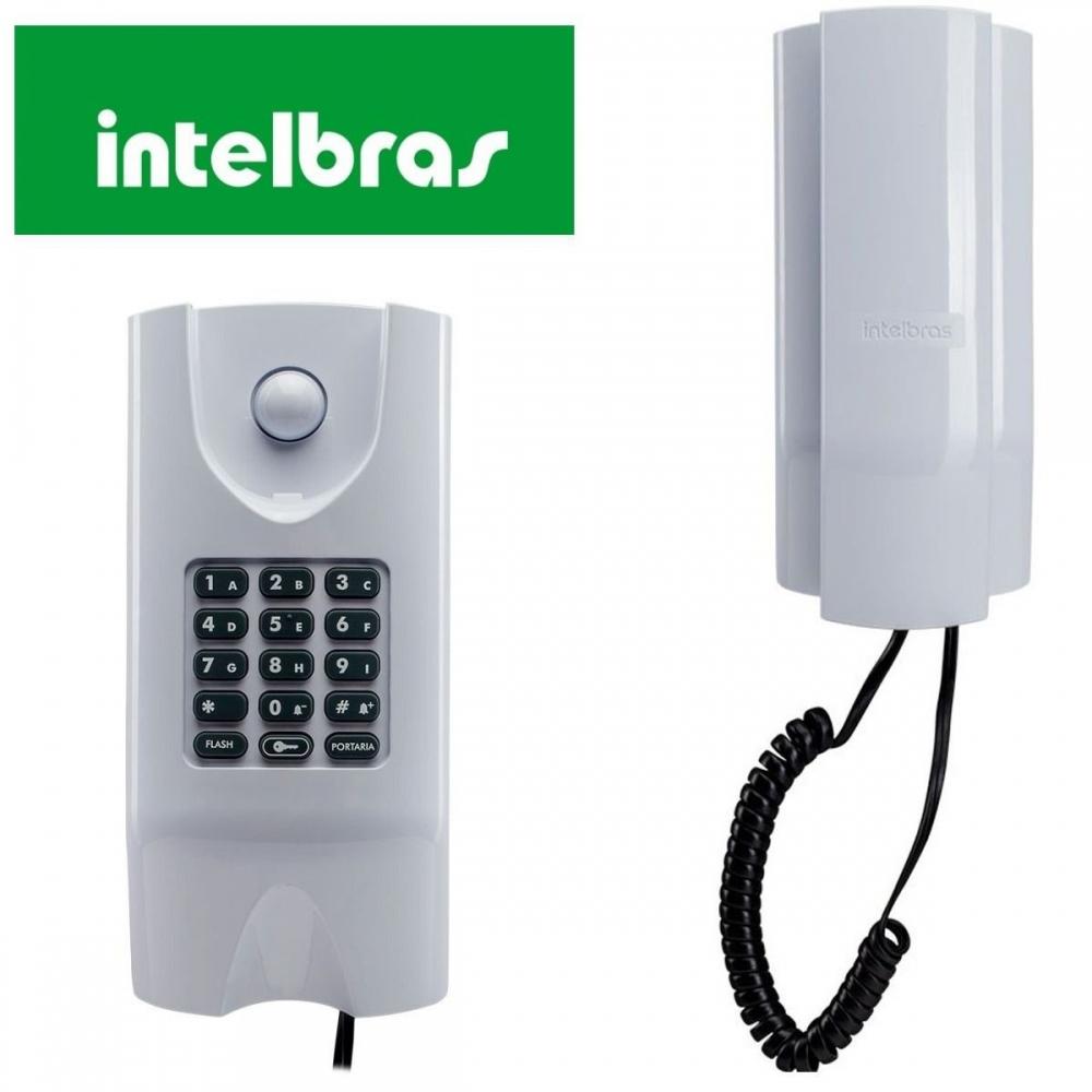 Kit Central de Interfone Condomínio 16 Ramais Comunic 16 + 16 Terminais + Porteiro XPE-48 + Fechadura HDL