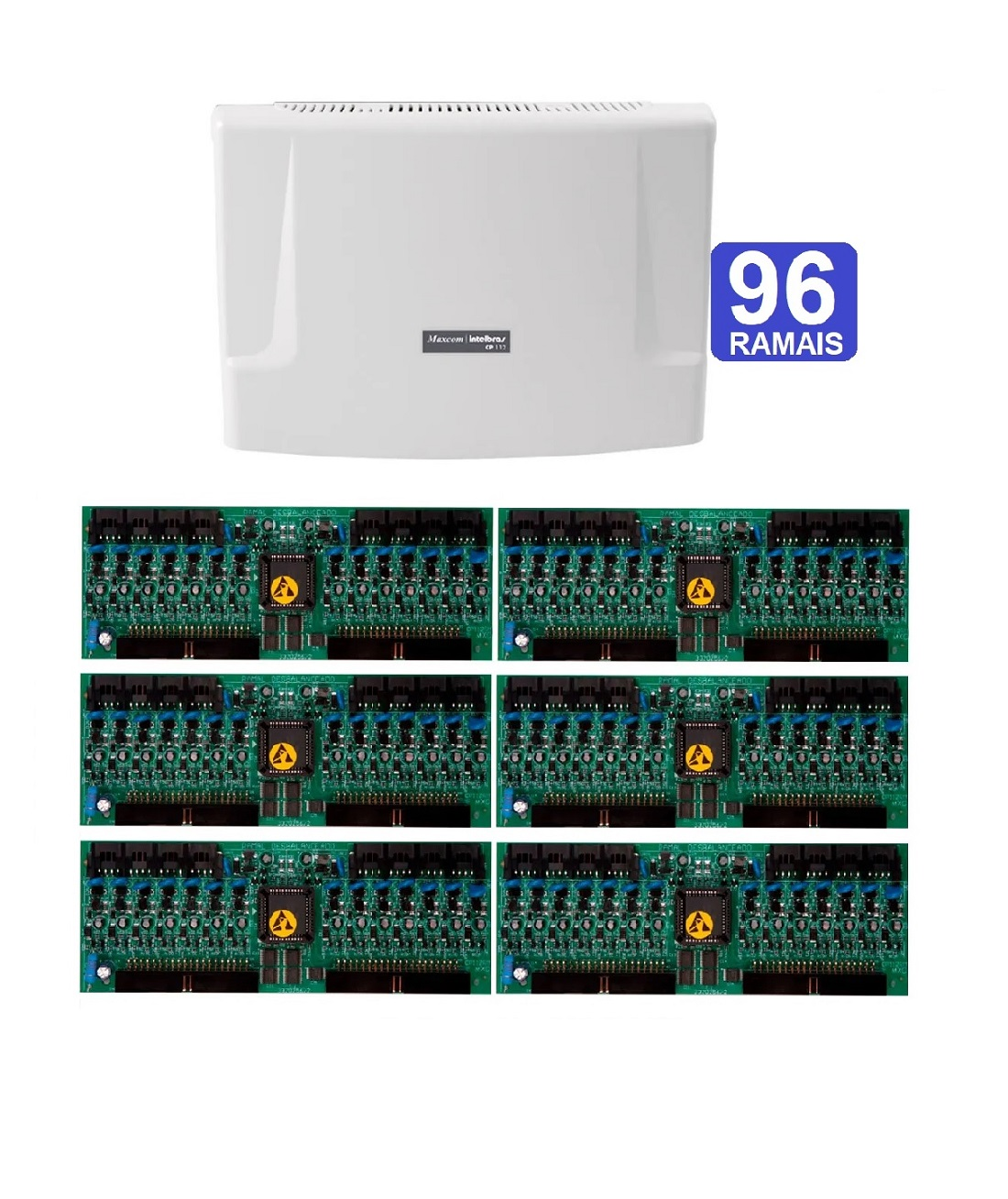 Kit Central de Interfone Condomínio com 96 Ramais Intelbras