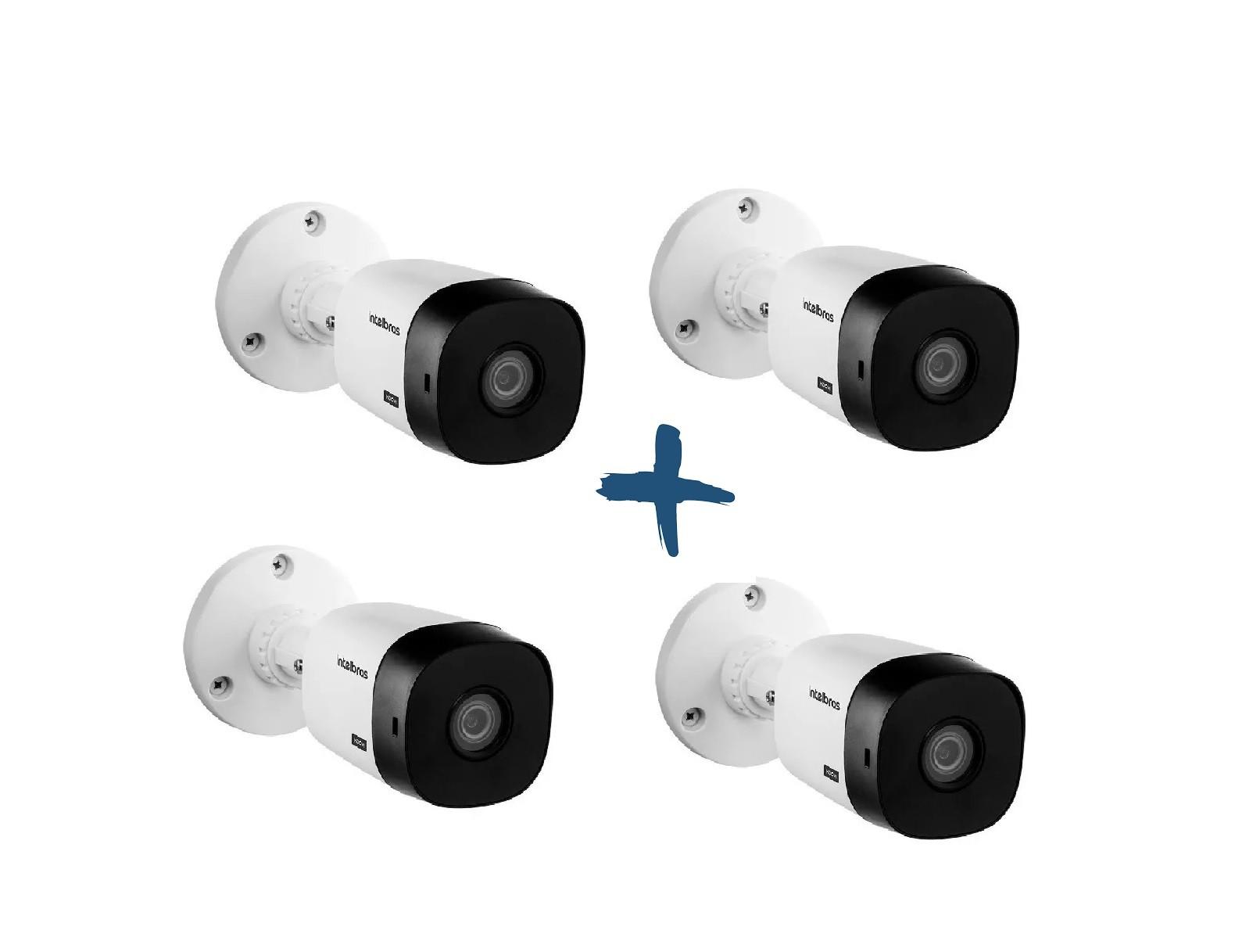 Kit Com 4 Câmeras Intelbras Vhd 1010b G6Hdcvi Hd 720p Bullet