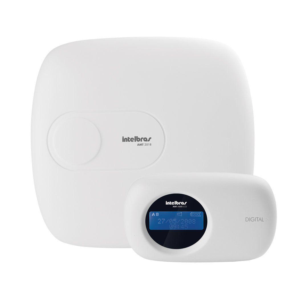 Kit de Alarme Intelbras AMT 2018 E + 04 Sensores, monitoramento por aplicativo via Internet sem Fio
