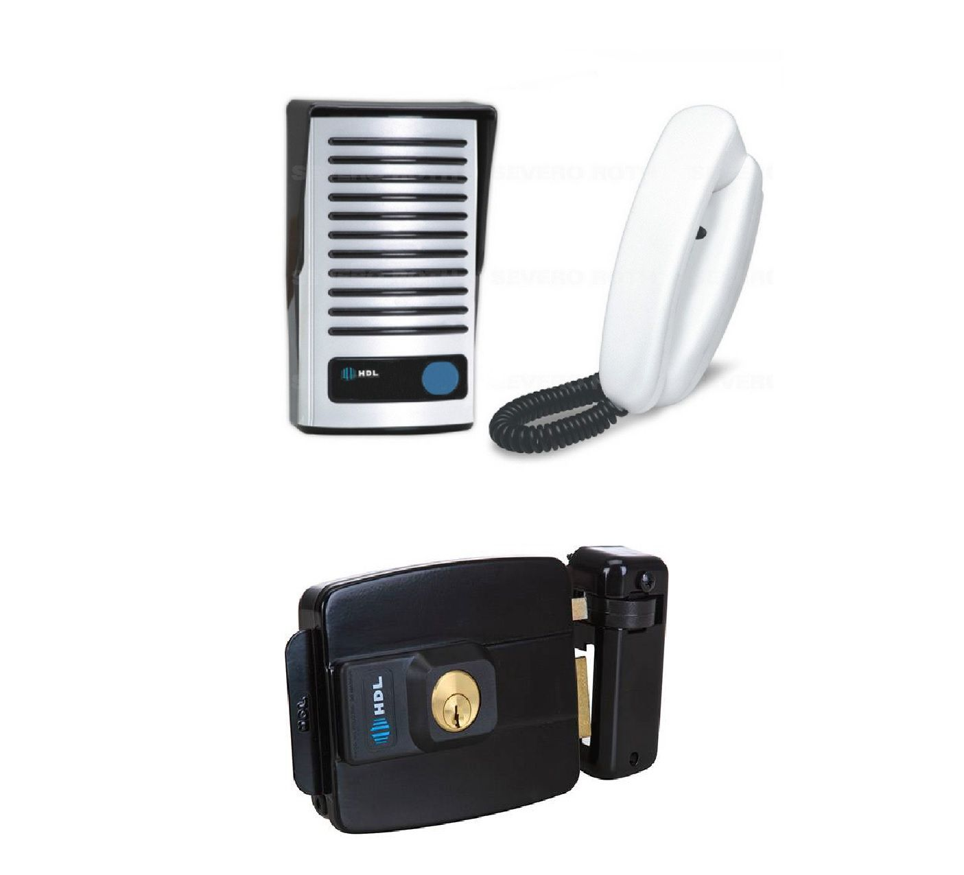 Kit Interfone F8-ntl e fechadura abre pra fora HDL