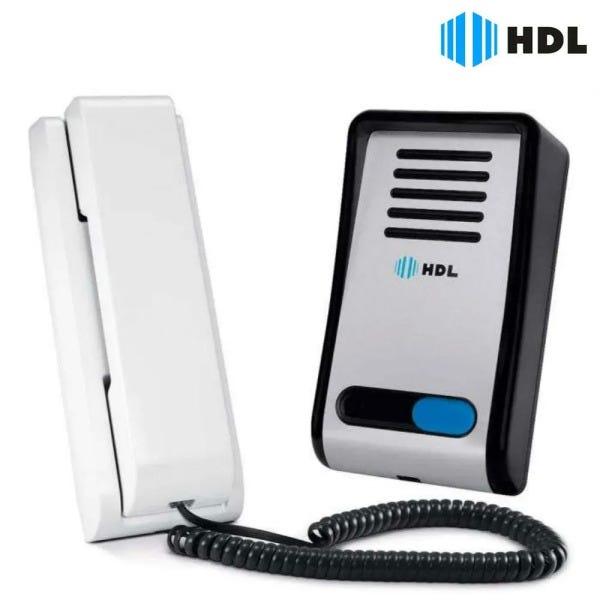 Kit Interfone Porteiro Eletrônico HDL F8-SN e Fechadura C-90 HDL