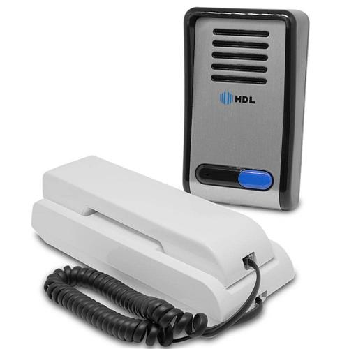 Kit Interfone Residencial Hdl 2 Pontos + Fechadura Elétrica AF