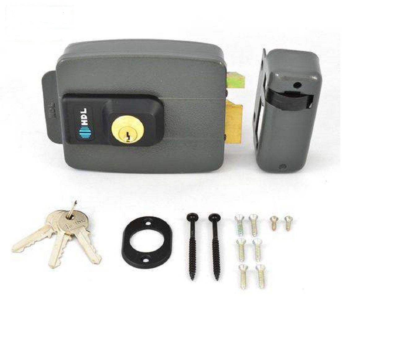 Kit Interfone Residencial Hdl F8 Com Fechadura Elétrica C90 Cinza