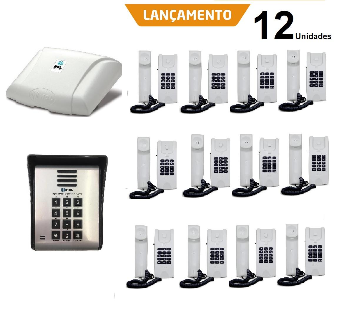 Kit interfonia completo HDL 12  terminal, porteiro eletrônico com controle por senha