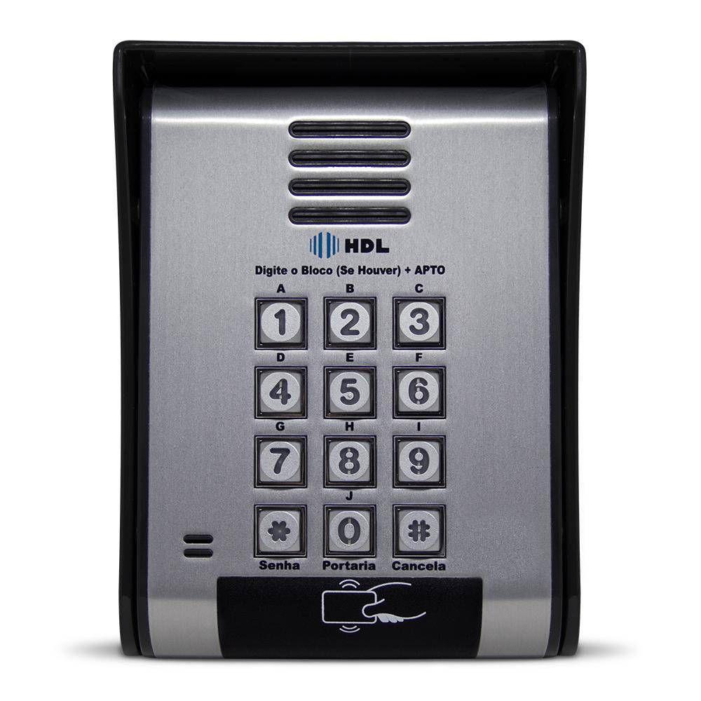 Kit interfonia completo HDL C/ 6 terminal, porteiro eletrônico com controle de acesso