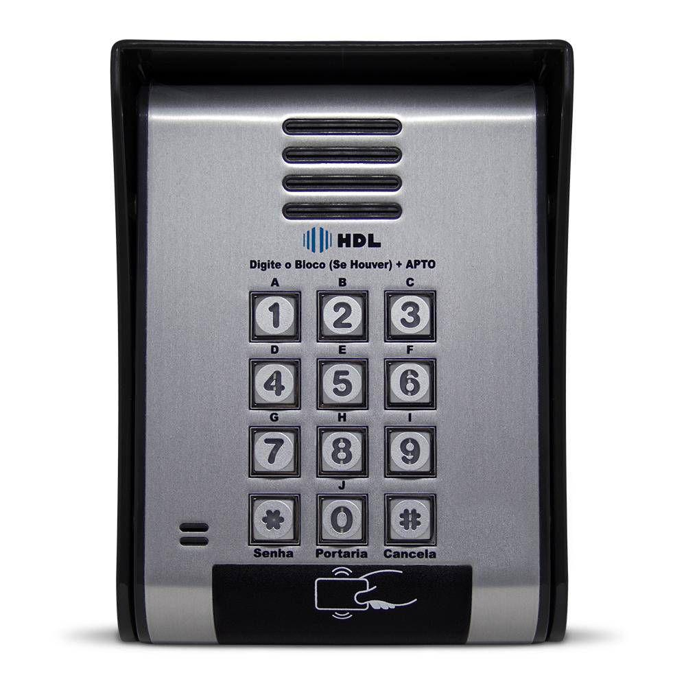 Kit interfonia completo HDL C/ 6 terminal, porteiro eletrônico com controle de acesso.
