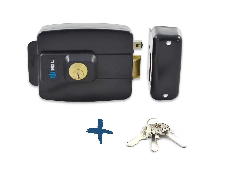 Kit Porteiro Eletrônico Coletivo 4 Pontos, Fechadura AF HDL e Botão