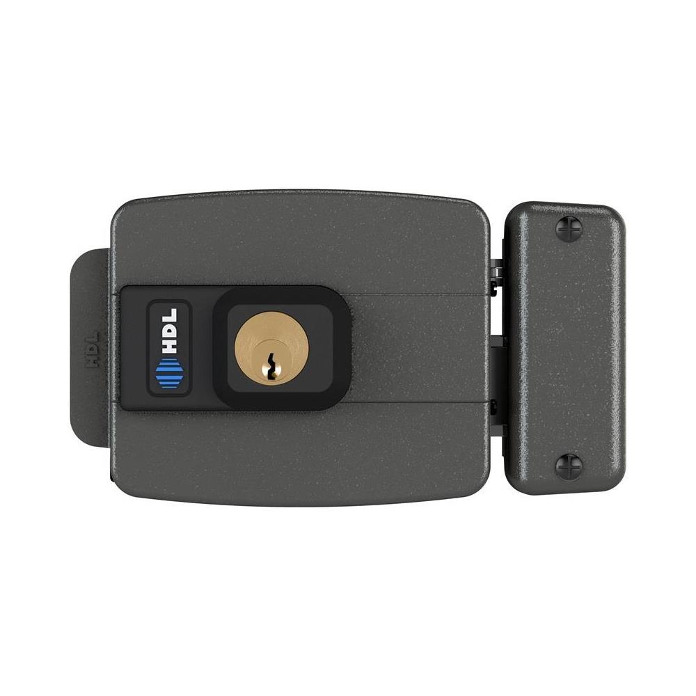 kIt Porteiro Eletrônico HDL F9 S Função Siga-me Externo e Fechadura Cinza C-90 HDL
