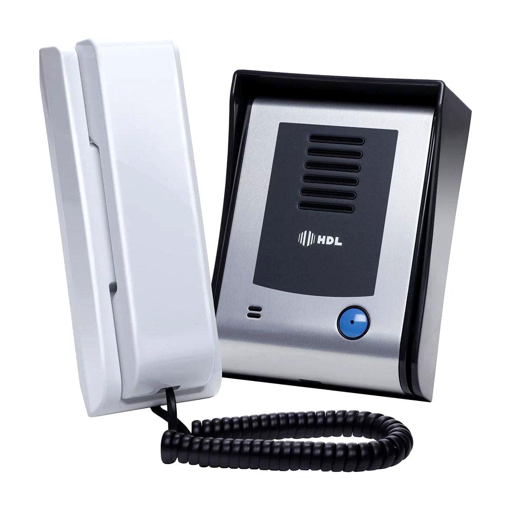 kIt Porteiro Eletrônico HDL F9 S Função Siga-me Externo e Fechadura Preta C-90 HDL