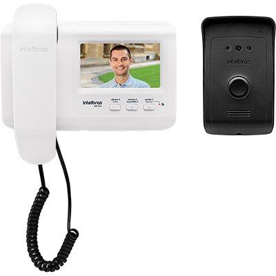 Kit Vídeo Porteiro Interfone IVR 1010 Com Extensão de Vídeo Intelbras