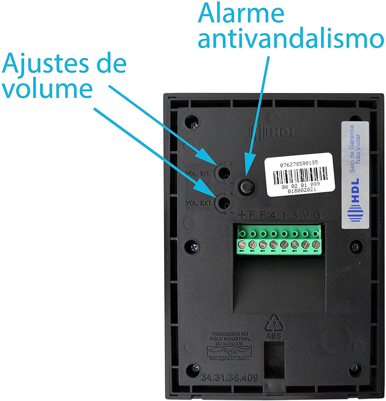 Kit Vídeo Porteiro Sense Classic S Colorido Com 3 Monitores HDL