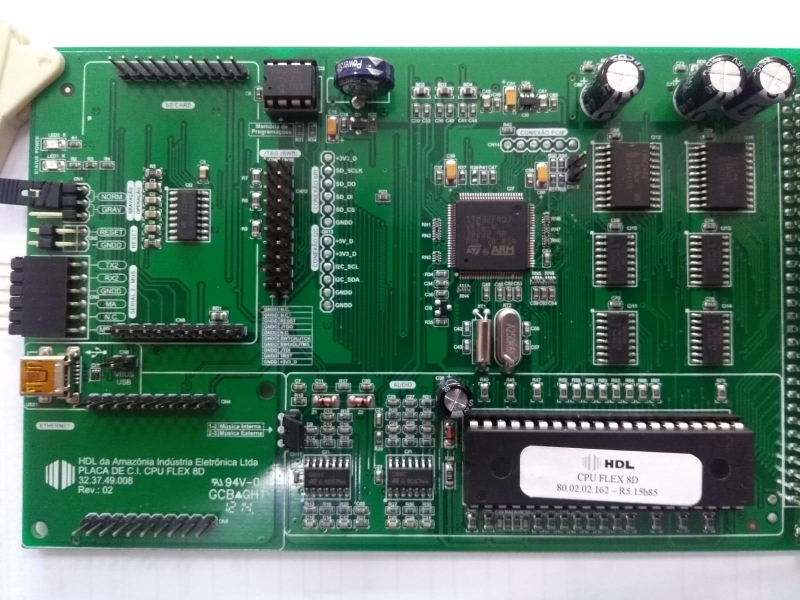 Placa CPU 8D Para Centrais HDL Flex